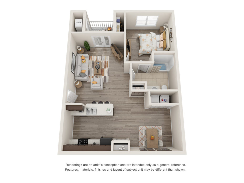 Menchaca 1 Bedroom Floorplan