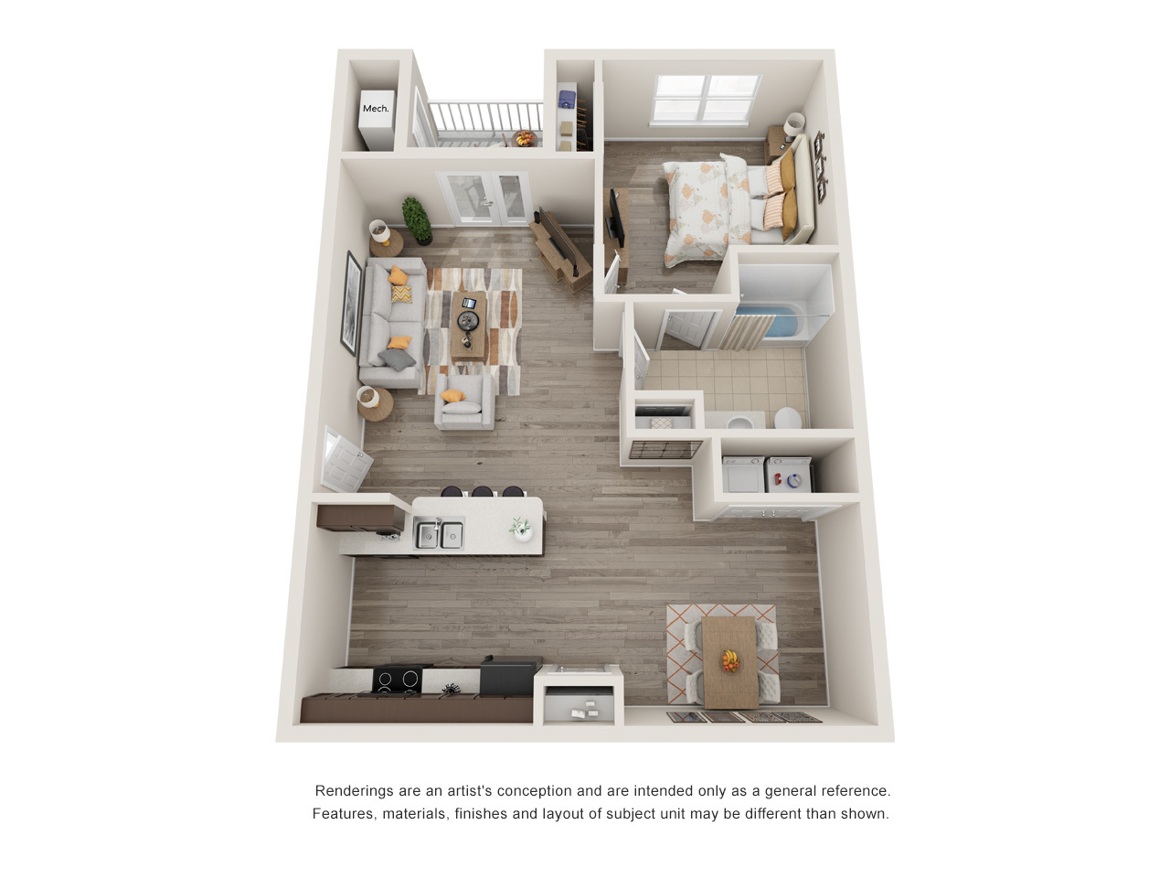 Menchaca 1 Bedroom Floorplan