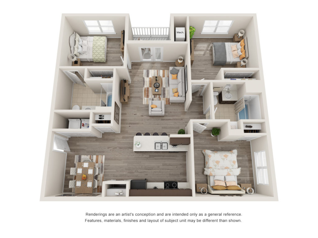 Menchaca 3 Bedroom Floorplan